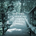 The end of seeking is the end of pain - image